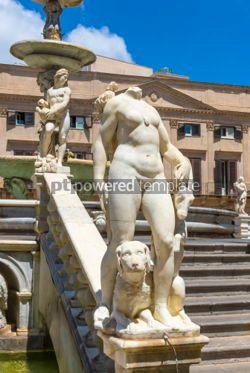 Architecture : Praetorian Fountain (Fontana Pretoria) in Palermo Sicily Italy #03399