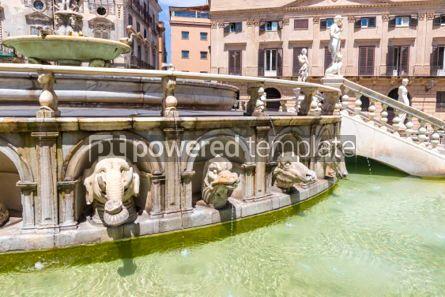 Architecture : Praetorian Fountain (Fontana Pretoria) in Palermo Sicily Italy #03400