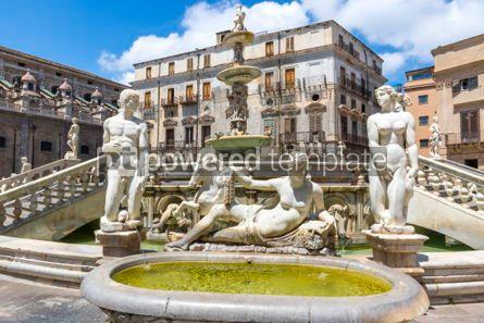 Architecture : Praetorian Fountain (Fontana Pretoria) in Palermo Sicily Italy #03401