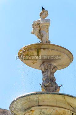 Architecture : Praetorian Fountain (Fontana Pretoria) in Palermo Sicily Italy #03404