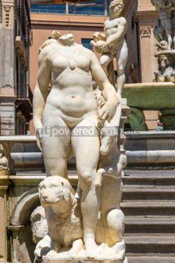 Architecture : Praetorian Fountain (Fontana Pretoria) in Palermo Sicily Italy #03405