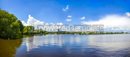 Nature: Waterfront of the Aussenalster Lake in Hamburg Germany #03410