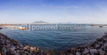 Nature: Panoramic view of Gulf of Napoli and Mount Vesuvius in Naples ci #03411