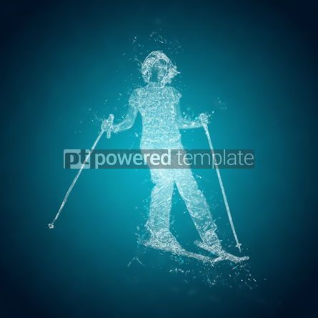 Abstract: Abstract skier on a slope. Crystal ice effect #03414