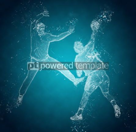 Abstract: Abstract handball players in action. Crystal ice effect #03416