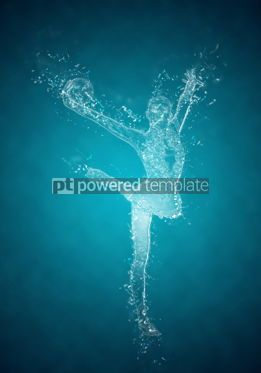 Abstract: Abstract woman rhythmic gymnast in action. Crystal ice effect #03417