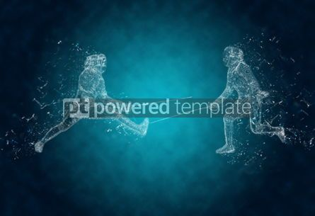 Abstract: Abstract sabre fencers in action. Crystal ice effect #03425