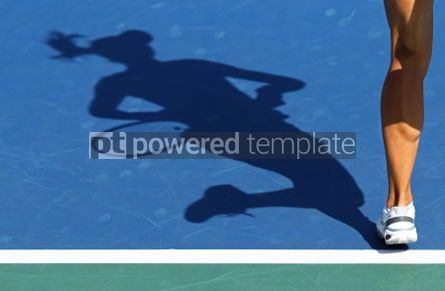 People: Shadow of woman tennis player #03427