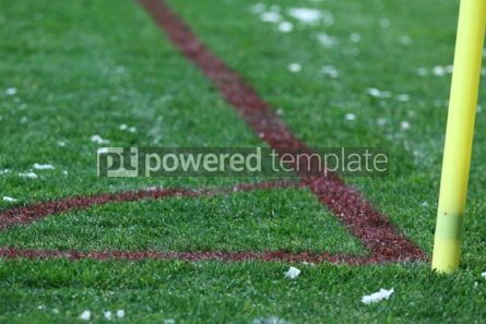 Sports : Corner kick of the green soccer football field #03434