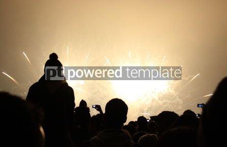 Holidays: People watch the New Year's Fireworks #03445