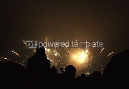 Holidays: People watch the New Year's Fireworks #03446