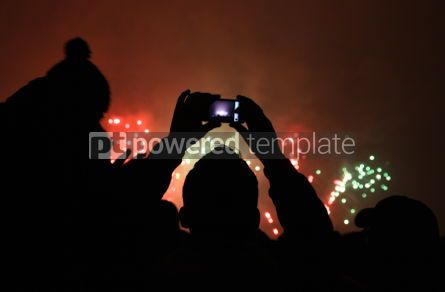 Holidays: People watch the New Year's Fireworks #03449
