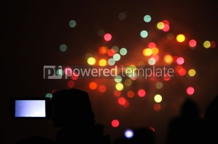 Holidays: People watch the New Year's Fireworks #03450