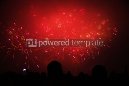Holidays: People watch the New Year's Fireworks #03451