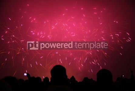 Holidays: People watch the New Year's Fireworks #03452