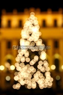 Holidays: Bokeh lights of New Year's tree #03454