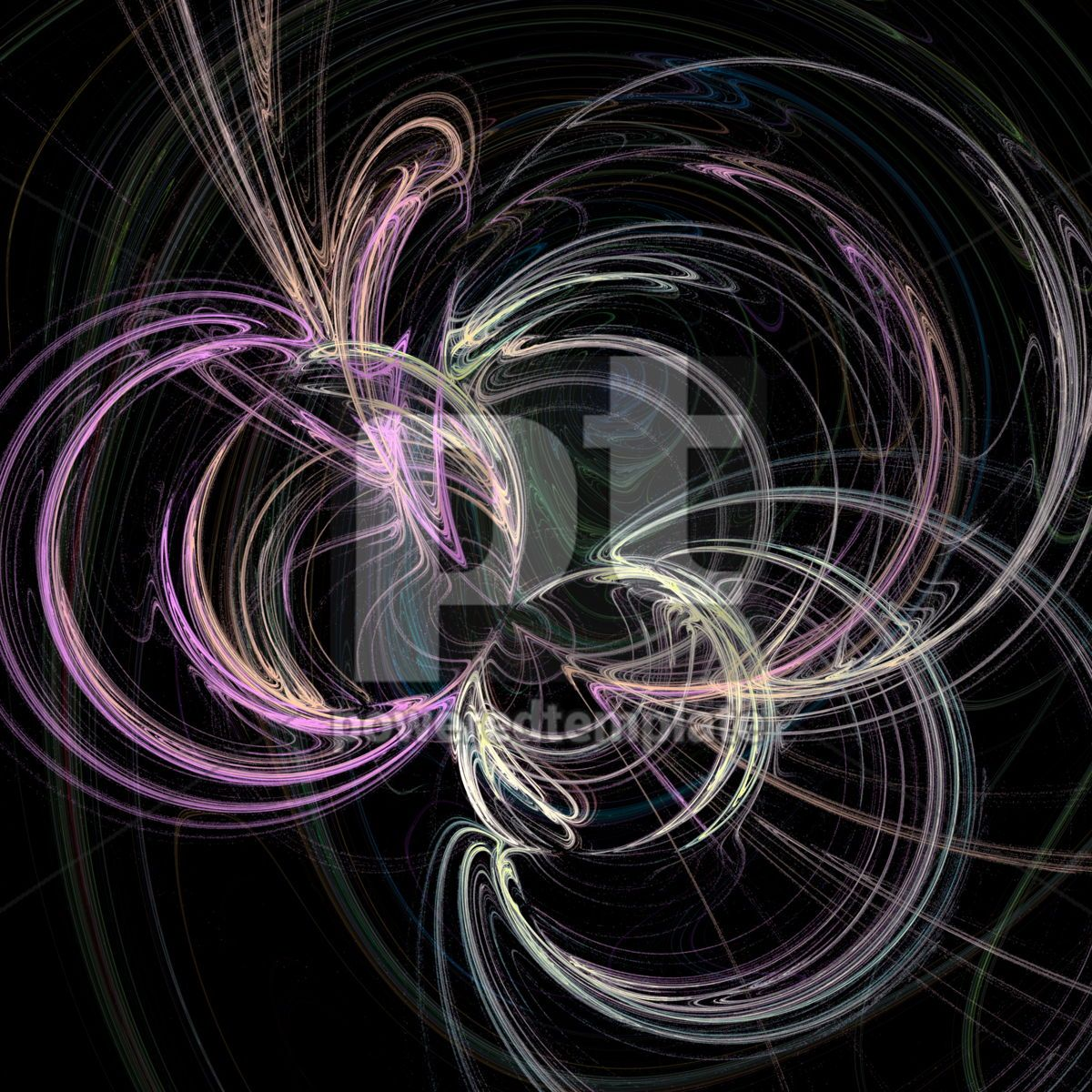 Abstract fractal background, 03483, Abstract — PoweredTemplate.com