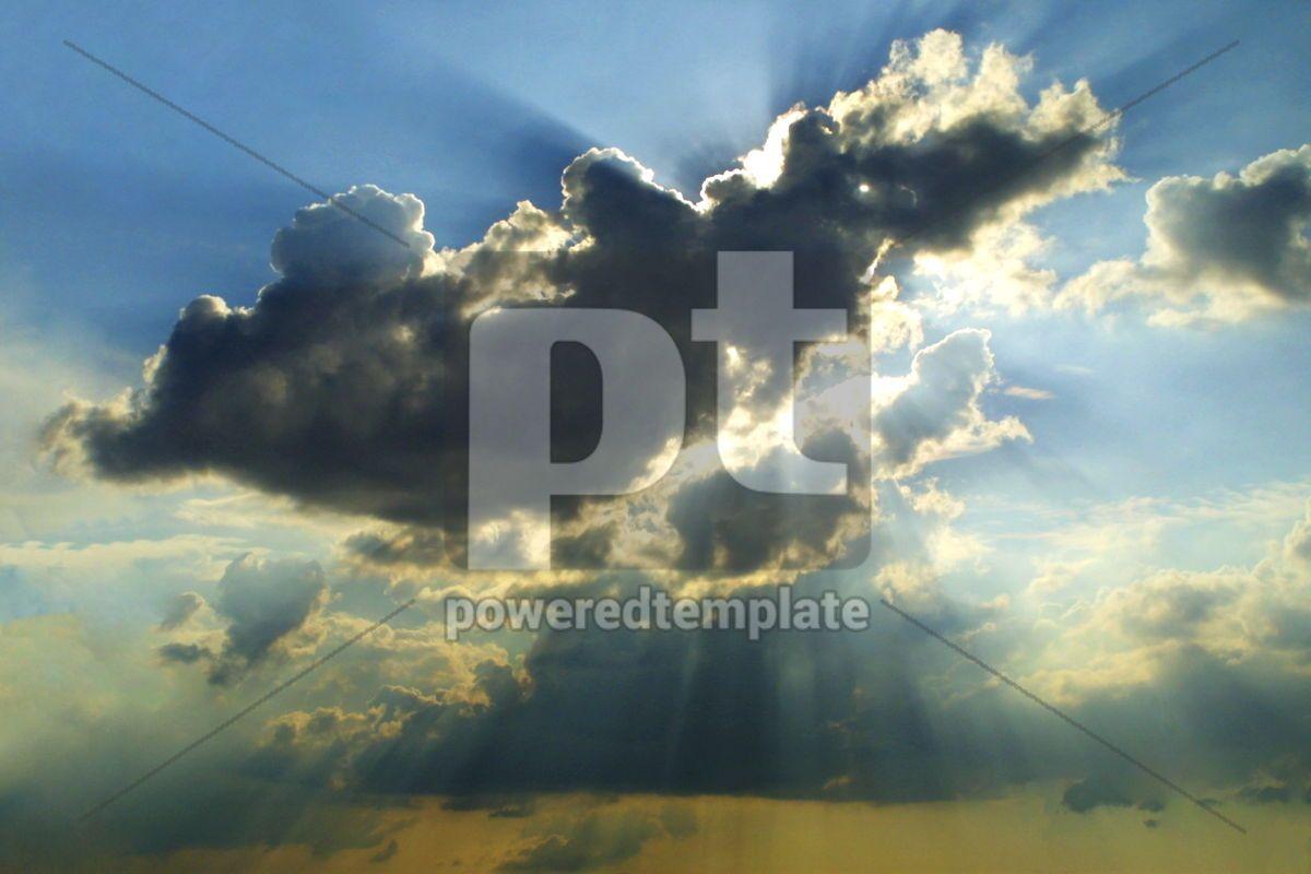 Beautiful clouds in sky, 03484, Nature — PoweredTemplate.com