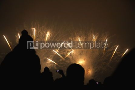 Holidays: People watch the fireworks #03486