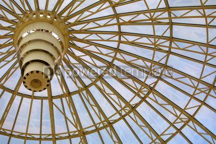 Architecture : Circle glass dome #03488
