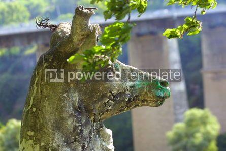 Animals: Statue of deer #03492