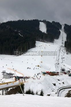 Nature: Ski tracks of Bukovel resort Carpathian mountains Ukraine #03499