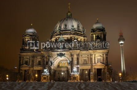 Architecture: Berlin Cathedral (Berliner Dom) at night. Berlin Germany #03508