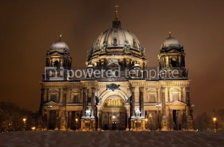 Architecture: Berlin Cathedral (Berliner Dom) at night. Berlin Germany #03509