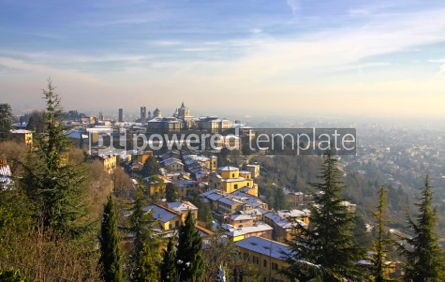 Architecture : Panoramic view of Bergamo old town Italy  #03513