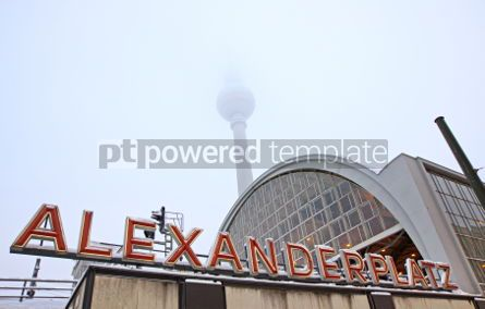 Architecture : Building of AlexanderPlatz Railway station in Berlin #03515