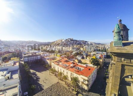 Architecture : Panoramic view of Las Palmas de Gran Canaria city Canary Spain #03521