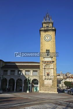 Architecture : The Tower of the Fallen (Torre dei Caduti) in Bergamo Italy #03538