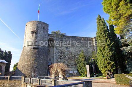 Architecture : Castle (La Rocca) in Bergamo Italy #03540