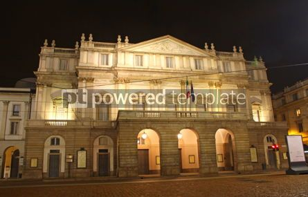 Architecture : La Scala opera house in night. Milan Italy #03544