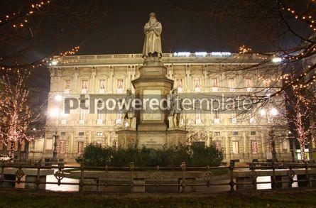 Architecture: Leonardo's monument in Milan Italy #03546