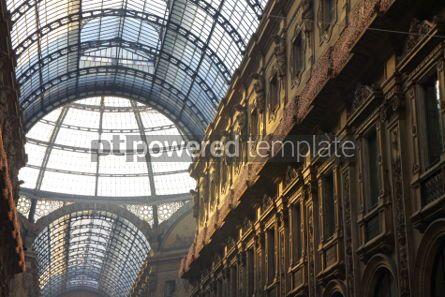 Architecture: Galleria Vittorio Emanuele shopping Center in Milan Italy #03549