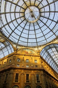 Architecture: Galleria Vittorio Emanuele shopping Center in Milan Italy #03550