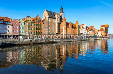Architecture : Colourful historic houses in Gdansk Old Town Poland #03557