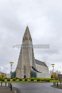 Architecture : Hallgrimskirkja Cathedral in Reykjavik Iceland #03560