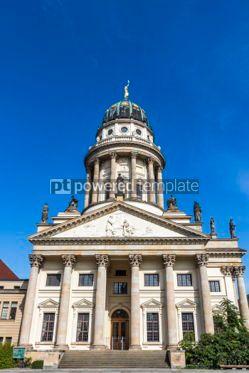 Architecture : Franzosische Dom at Gendarmenmarkt square in Berlin Germany #03563
