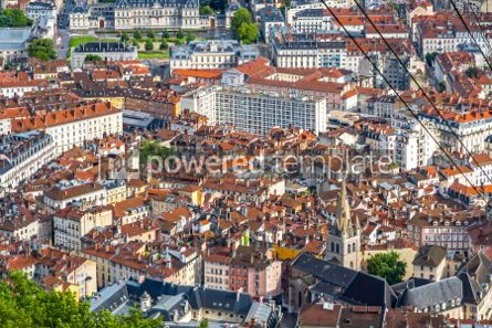 Architecture : Aerial view of Grenoble old town France #03567