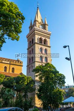 Architecture : Messina Cathedral (Duomo di Messina) Sicily Italy #03568