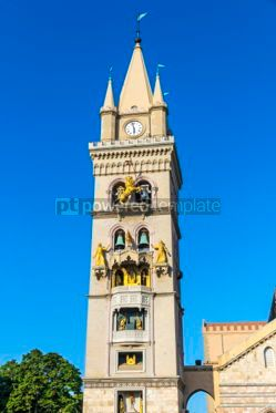 Architecture : Messina Cathedral (Duomo di Messina) Sicily Italy #03569