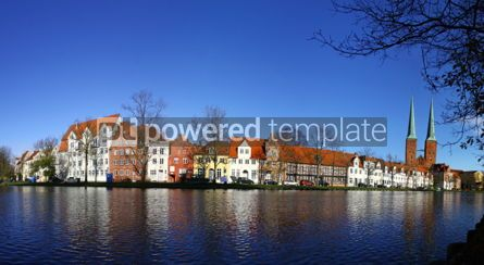 Architecture : Skyline of the medieval city of Lubeck Germany #03570