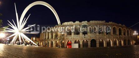 Architecture : Ancient roman amphitheatre Arena in Verona Italy #03571