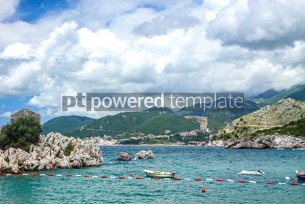 Nature: Adriatic seacoast Przno beach Milocer Montenegro #03582