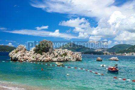 Nature: Adriatic seacoast Przno beach Milocer Montenegro #03585