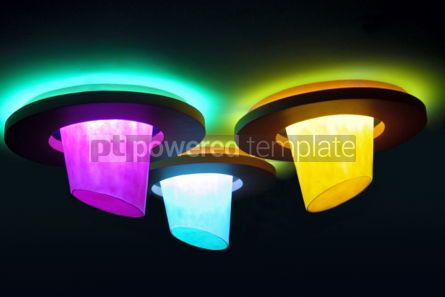 Abstract: Colourful lamps  #03612