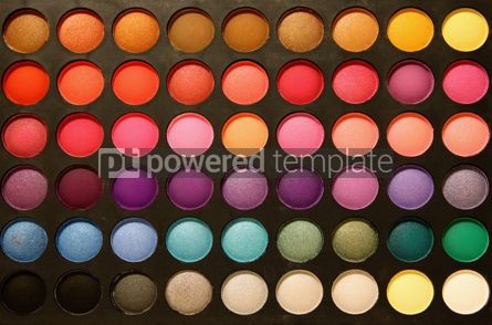 Abstract: Close-up professional multicolour eyeshadows palette #03613