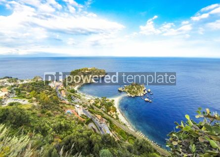 Nature: Isola Bella island and beach in Taormina Sicily Italy #03627